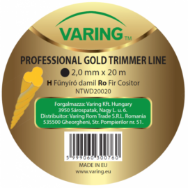 Varing fűnyíró damil Dispenser GOLD 2,0mm 20m csavart profil