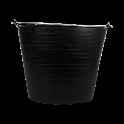Bellota fekete műanyag vödör 26L fém fogantyúval