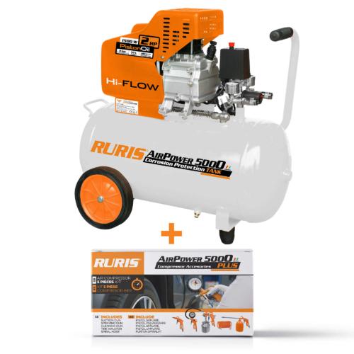 Légkompresszor RURIS AirPower 5000 + kiegészítők